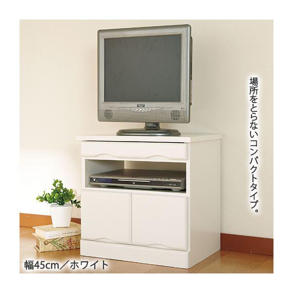 おしゃれでシンプルなテレビ台・テレビボード 引き出しいっぱいテレビ台/テレビボード 【4: 幅120cm】 木製 カギ2個付き ホワイト(白)